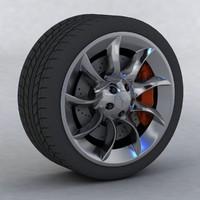 wheel tyre fbx