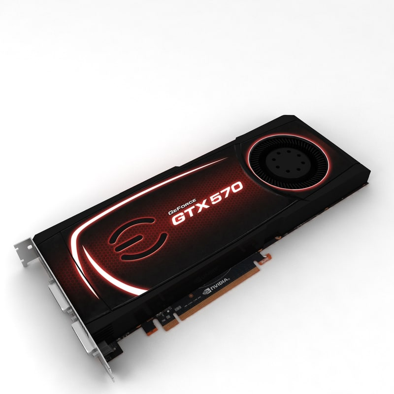 nvidia evga gtx 570 3d model