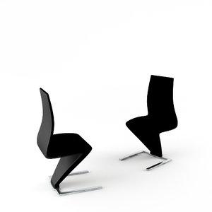 3d model aa living chair ii