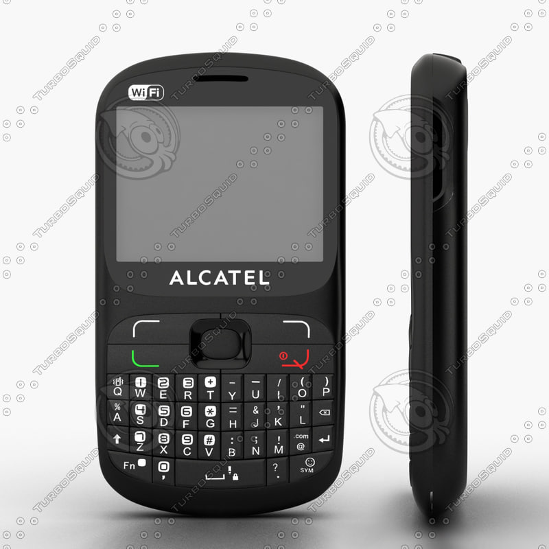 3d model alcatel ot-813 duos cell phone