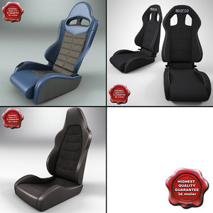 3d model auto seats