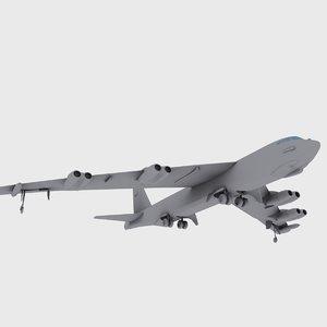3d max b-52 b-52h stratofortress