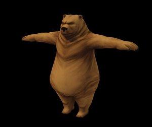 obj kodiak bear