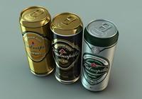 3d model beer cans