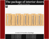package interior doors 3d max