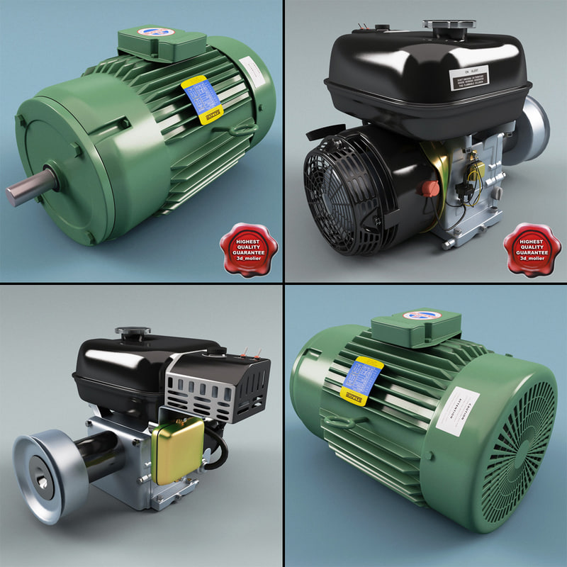 3d model of electric motors