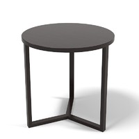 Flexform Jiff Round Side Coffee Table Modern Contemporary