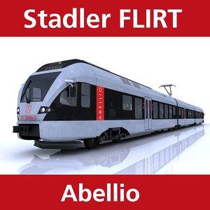 flirt passenger train abellio 3d model