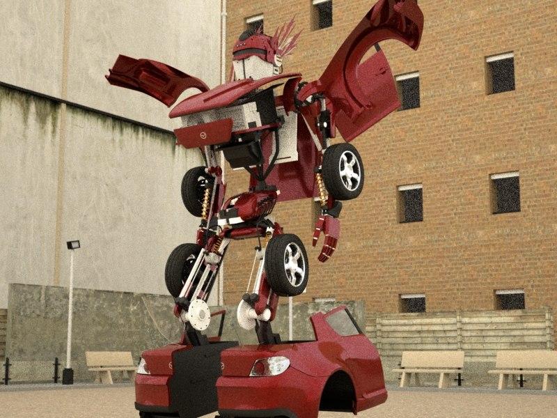 robot transform 3d model