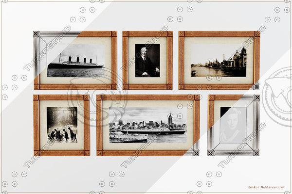 photo frames 3d model