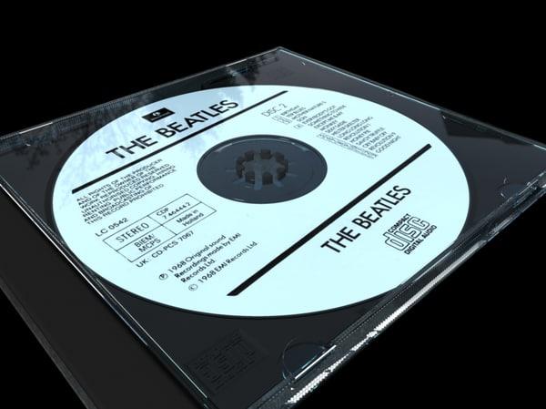 compact disc cd case 3d obj