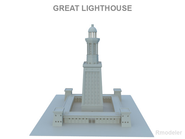 3d model lighthouse alexandria