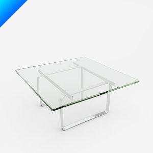 ch106 coffee table hans wegner 3d model