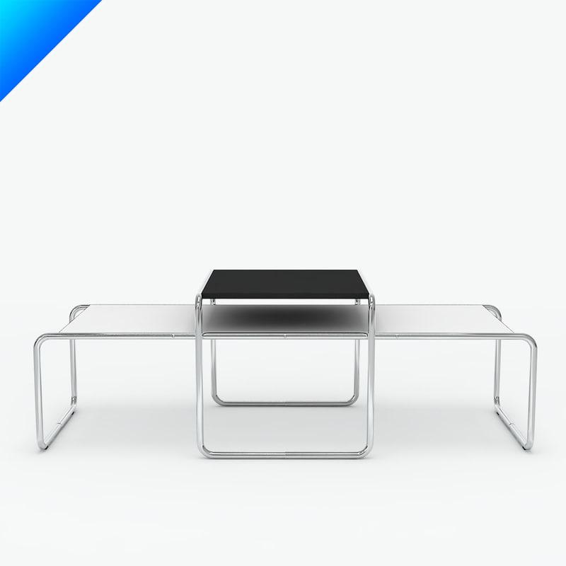 3d C4d Knoll Laccio Table