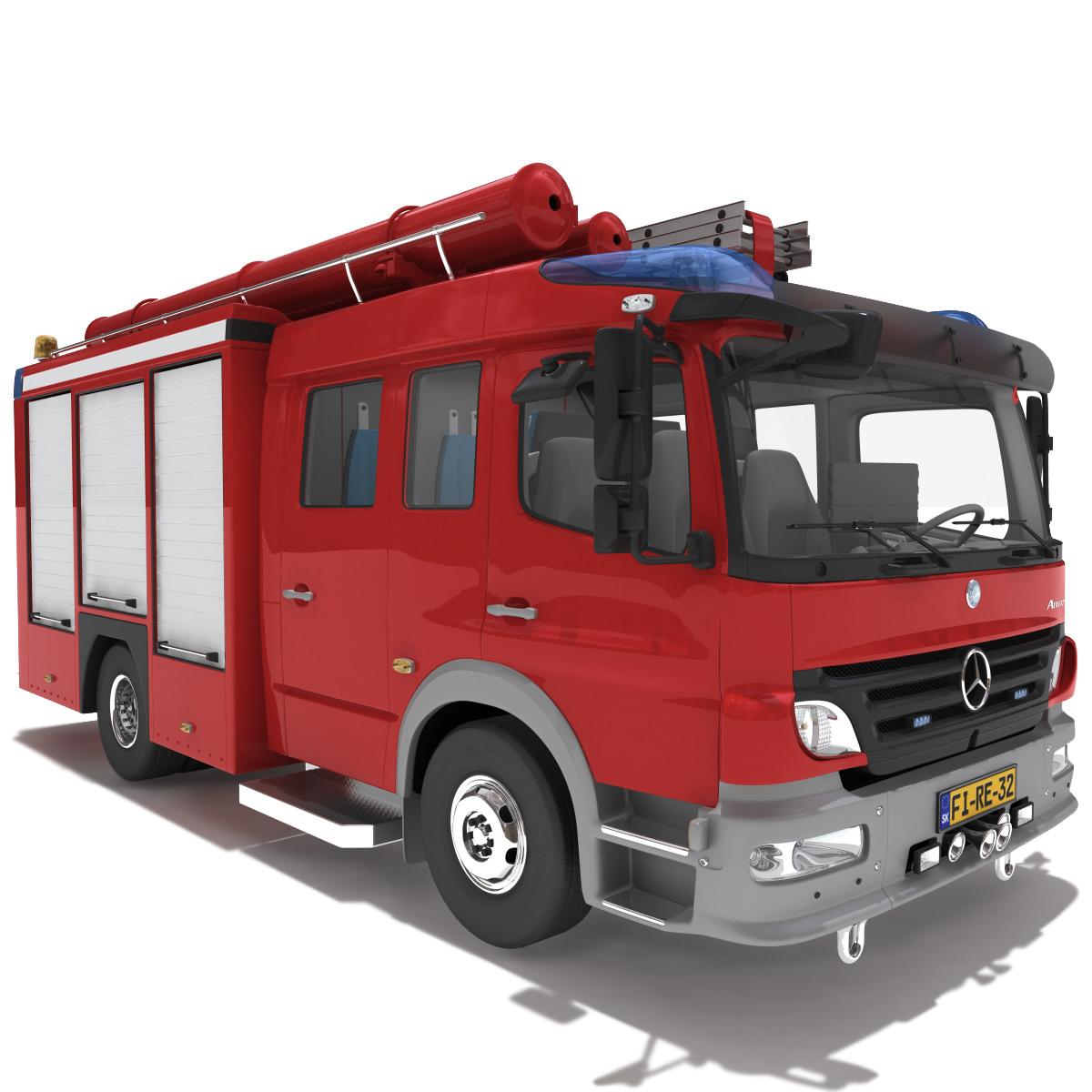3d max mercedes atego truck v2