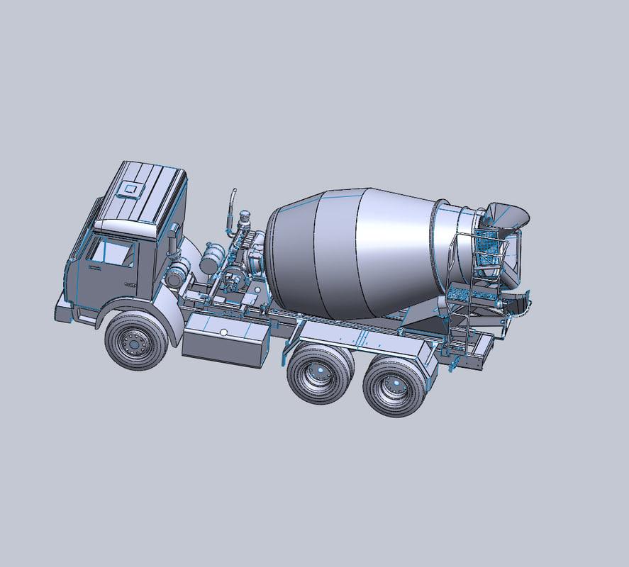 ready-mix truck 3d max