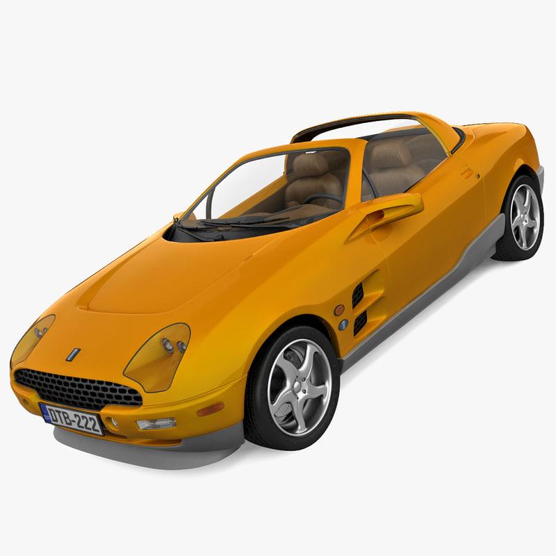 max rigged sports car tomaso