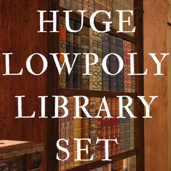 huge library set 3d model