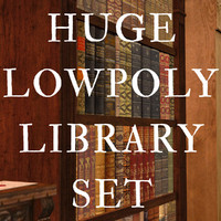 huge library set 3d model