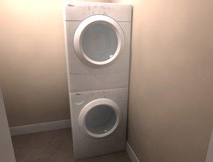 3d model washer dryer