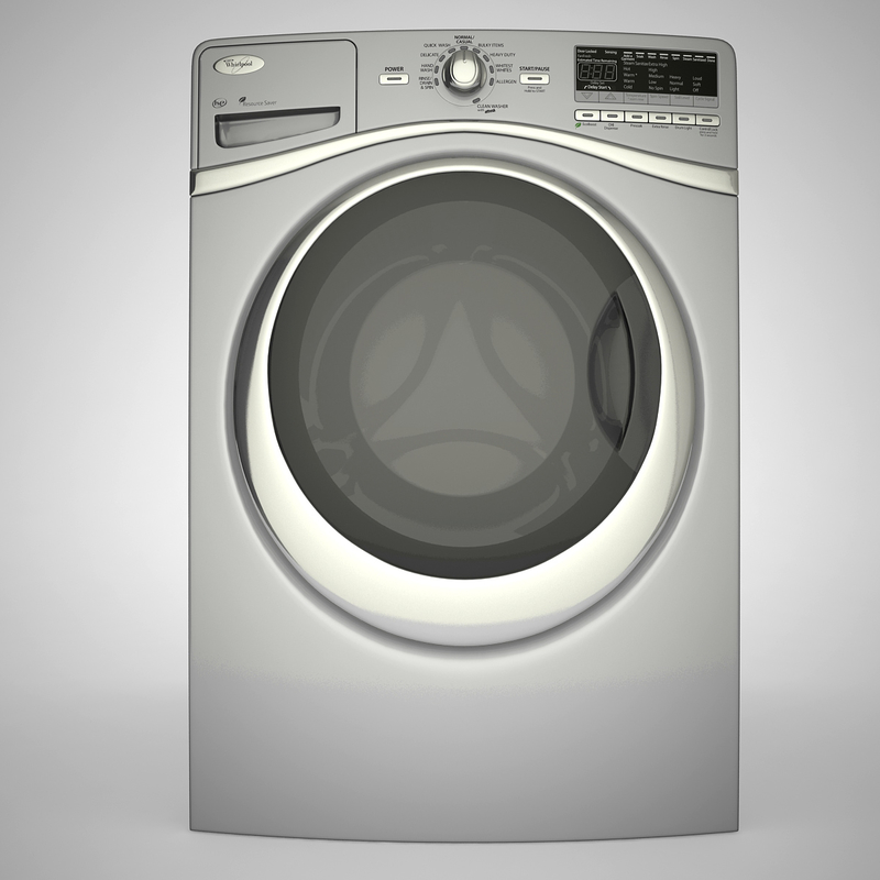 washing machine 3d max