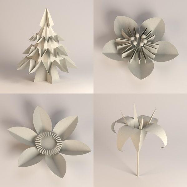 Origami 3D Models for Download   TurboSquid