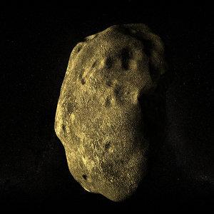 asteroid planetoid 3d model