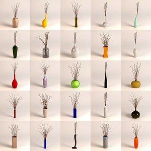 3d 3ds vases decoration