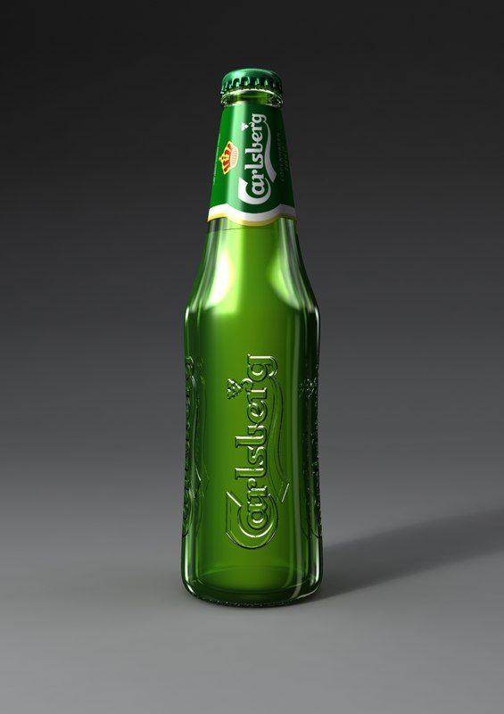 3d model carlsberg beer bottle