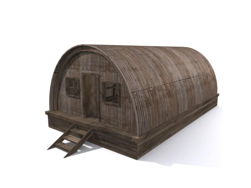 barracks bunker tent 3ds