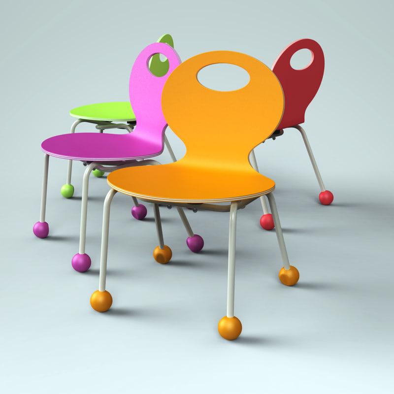 children chair 3ds