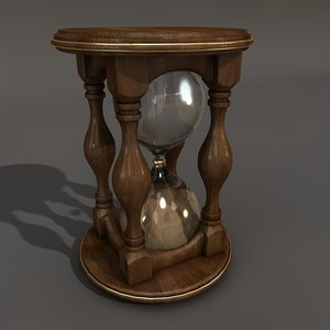 3d sand clock model
