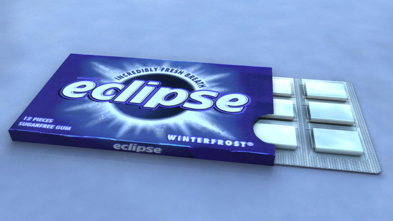 3d model eclipse chewing gum