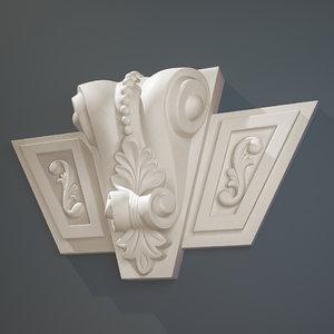 decorate facades 3d model