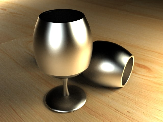 glass chrome 3d model