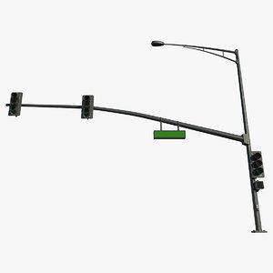 3d highpoly traffic signal