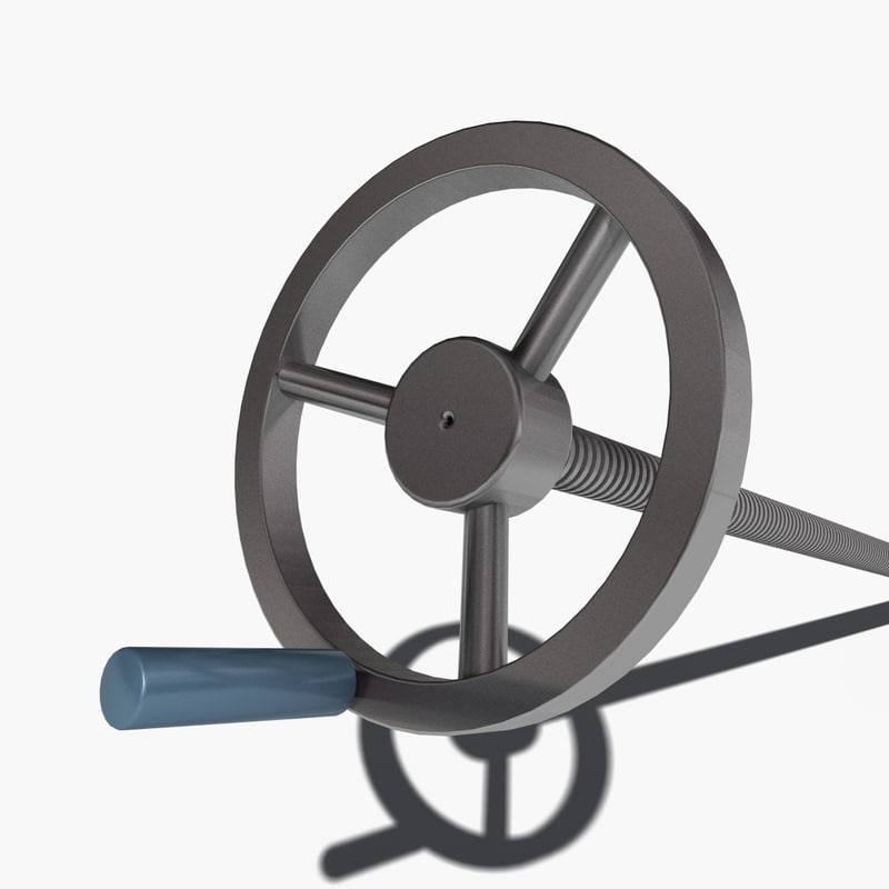 threaded crank 3d model