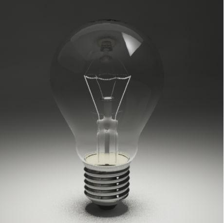 lamp filament 3d obj