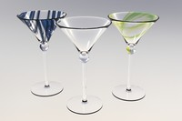 3d model martini glasses