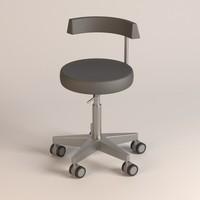 hospital chair 3d obj