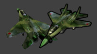 3d obj fighter jet