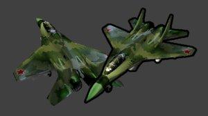 3d obj fighter jet
