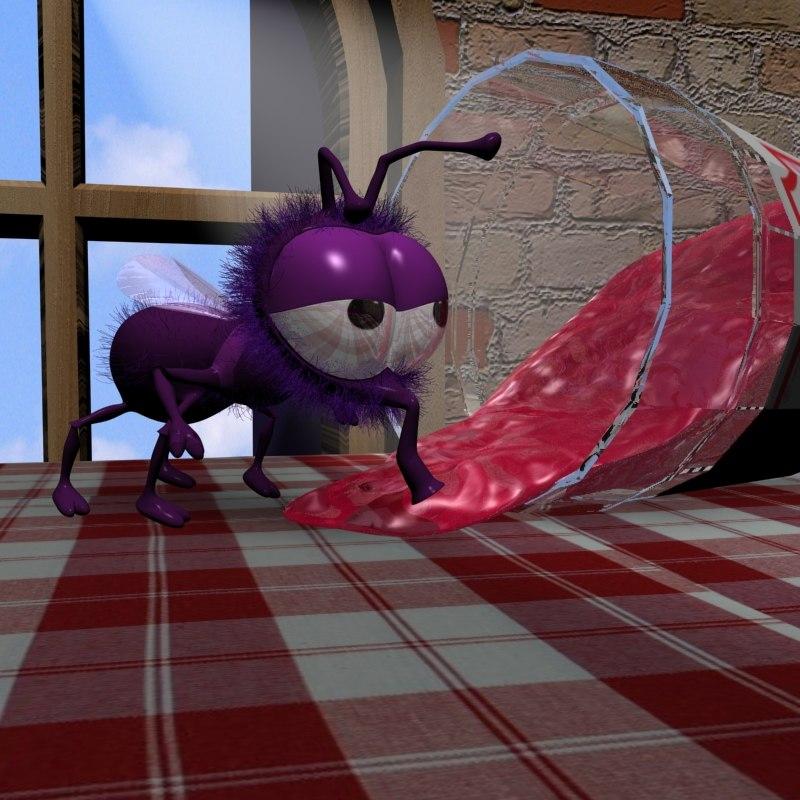 lightwave cartoon fly rigged