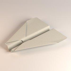 paper plane 3d obj