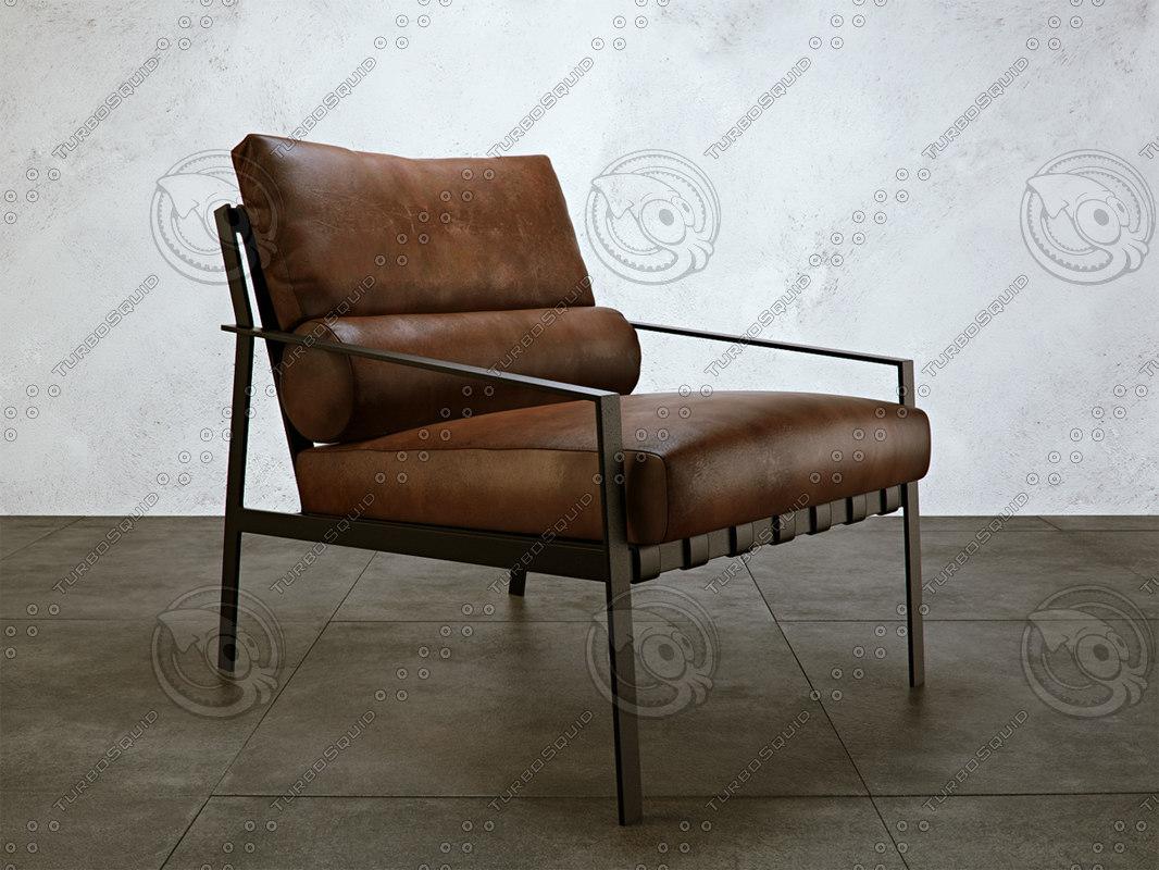 3ds max ozio chair leather