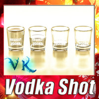 vodka shot glass 3d model