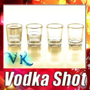 vodka shot glass 3d model