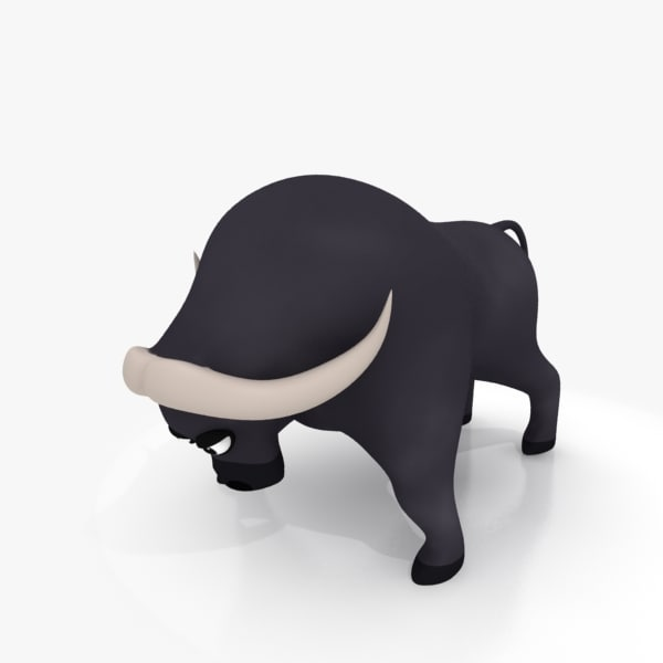 3d cartoon bison rig