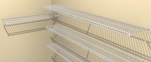 3d closet shelving model