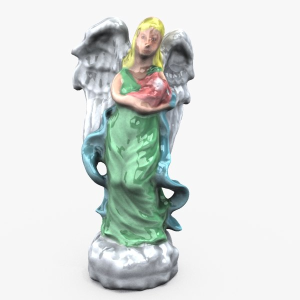 3ds max porcelain angel statue